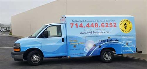 Service trucks equipped to handle all projects