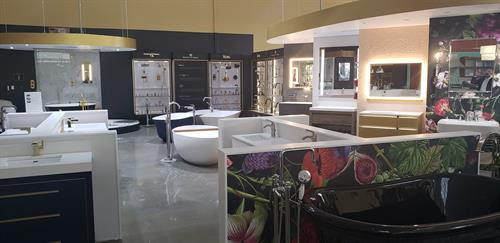 Come see our selection of vanities, mirrors, sinks, faucets and bath tubs!
