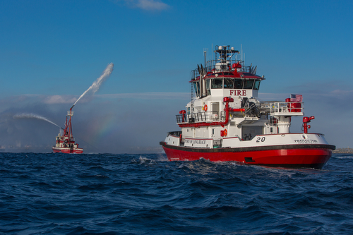 Our new fireboat, the Protector
