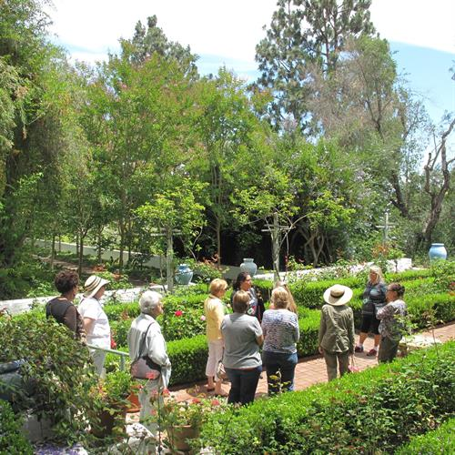 Curated tour of historic gardens at Rancho Los Alamitos