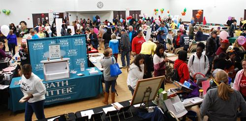 Rain forced a moved inside for 2019, but businesses were pleased with the turnout.