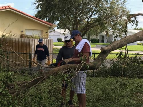 Clean Up after Hurricane Irma