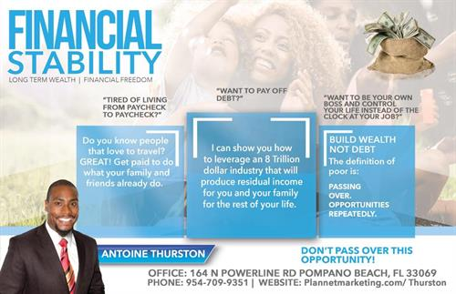 We offer financial, personal and time freedom