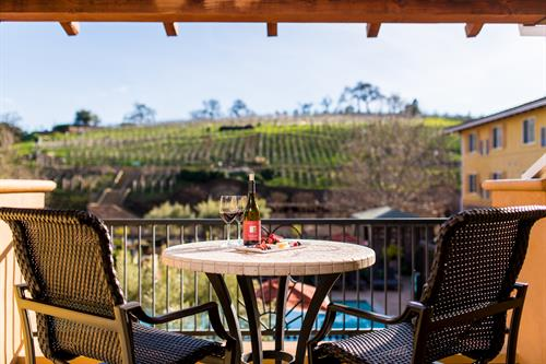 Balcony with a view at The Meritage Resort and Spa