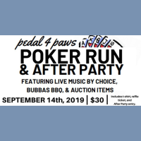 Pedal for Paws, Poker Run and After Party