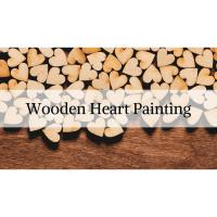 Wooden Heart Painting