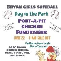 Girls Softball Chicken BBQ