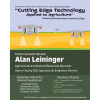 """STEM Career Seminars Present """"Cutting Edge Technology Applied to Agriculture"""" Hosted by Northwest State Community College"""
