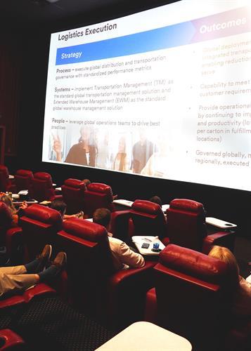 Company Meeting on Screen