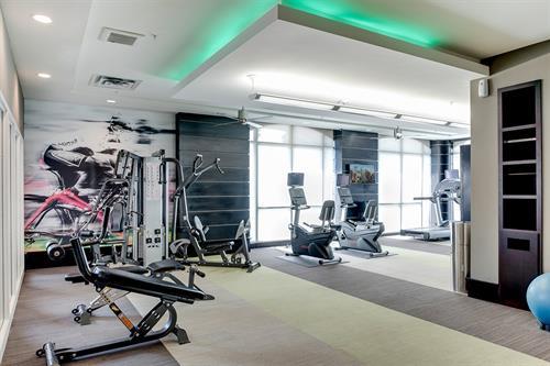 Modern fitness center