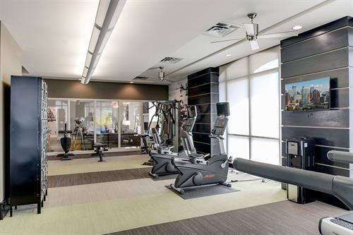 Featuring cardio machines and free weights