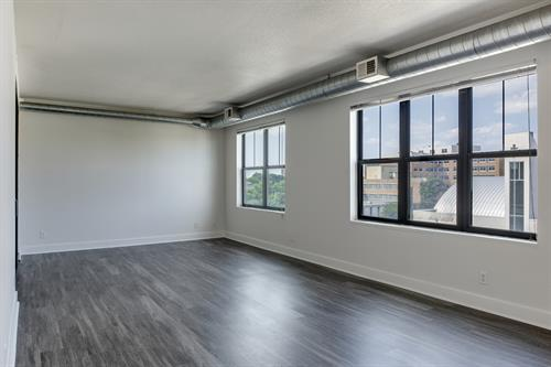 Spacious  studio, 1, and 2 bedroom floor plans