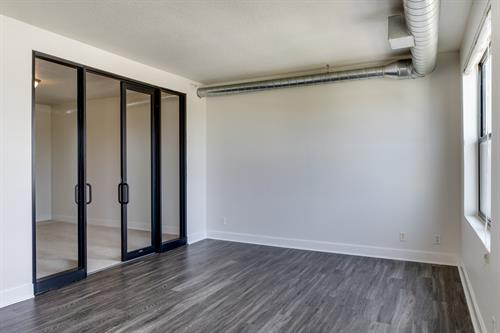 Featuring storefront bedroom doors