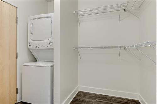 Washers and dryers included in all units