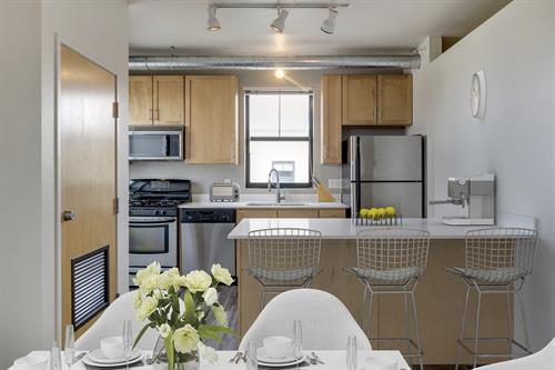 Upgraded chef kitchens