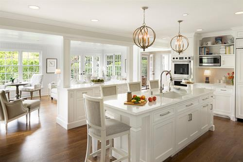 Restoring Tradition in Edina.  Kitchen and Sunroom transformation
