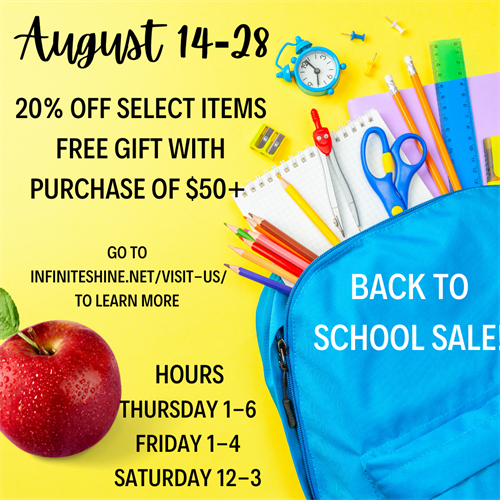 Offers good through August 28!  Stop by and see what is new!