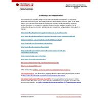 Scholarships from University of Louisville College of Education and Human Development