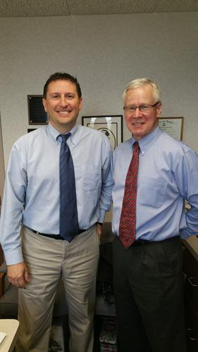 Photo from Left to Right: Dr. Shawn Petersen (DDS) & Dr. Mark Markham (DDS)