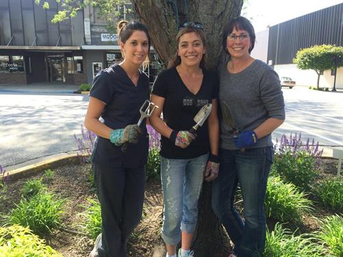 Photo from Left to Right: Laura Wessling, Hayley Freund, Denise Lowary; Annual Adopt-A-Bed Partner