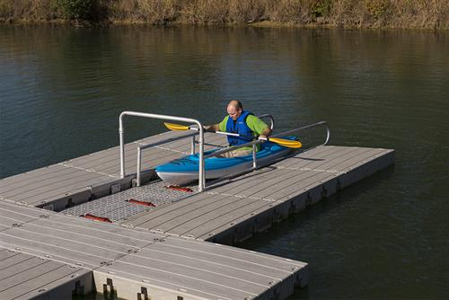 Commercial kayak launch