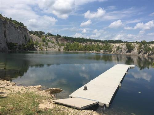 Dock on quarry in Oklahoma