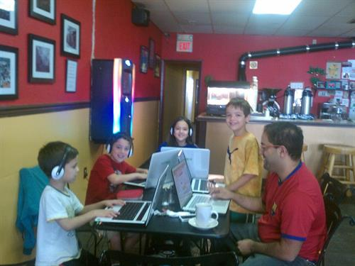 DJ Soto and his children cyber school