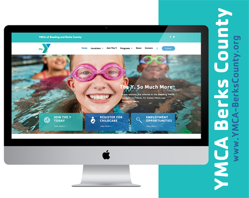 YMCA Berks County website by LMG