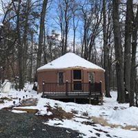 hOMe Yurt - winter exterior