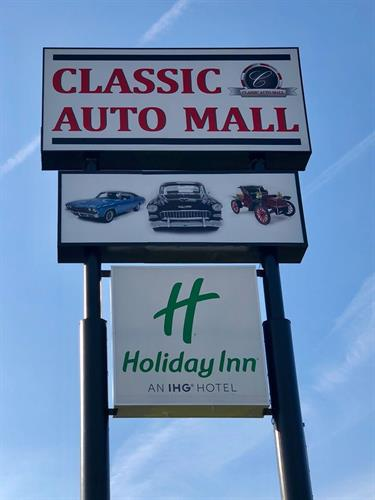 Easy access to the famed Classic Auto Mall