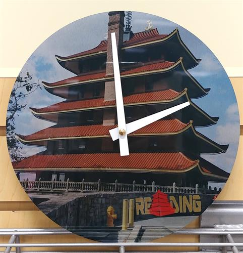 PAGPDA Clock printed here. Any photo or logo can be printed into a company clock.