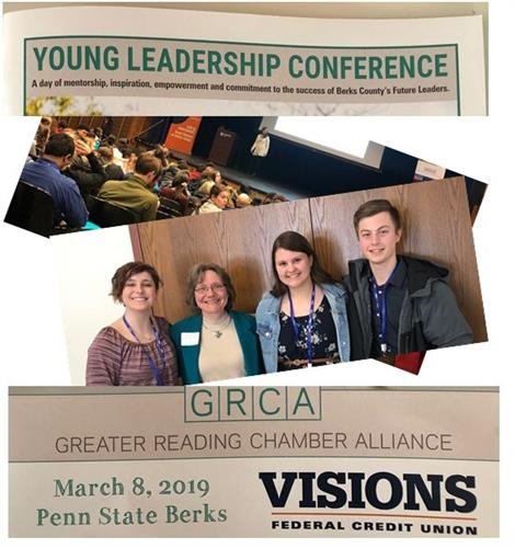 Shared a great lunch and conversation with 3 Kutztown HS students at the GRCA Young Leadership Conference