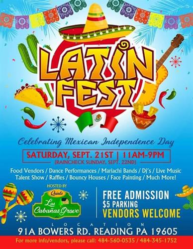 Latin Fest 2019!! Held on September 21, 2019