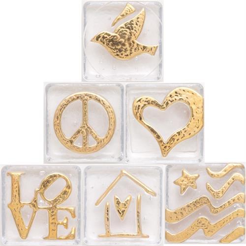 Symbols, Emoji's and Hearts in gold