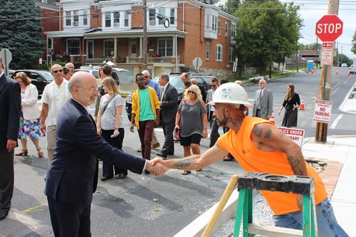Governor Tom Wolf and our Foreman, Bruce Reed