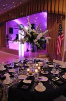 A wedding reception at the Green Valley Country Club Ballroom.