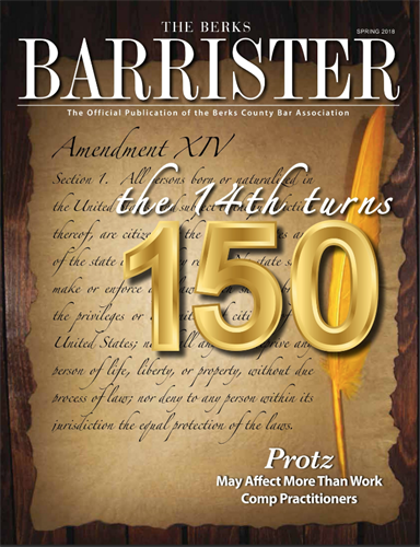Berks Barrister, A Magazine for the Berks County Bar Association