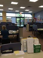 Inside view of the tutoring center