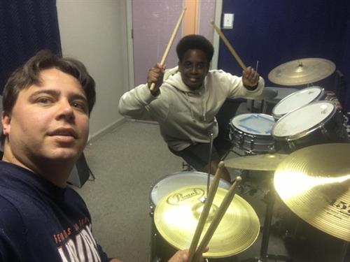 Never miss a beat with drum teacher Bruno!
