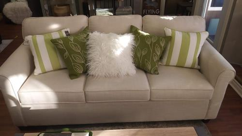 Custom upholstered sofas, cushions, cushions, cushions