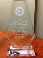 Award for Top Business Growth, Central Region, Ontario