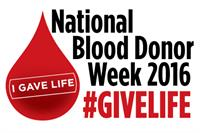 National Blood Donor Week June 13-18th