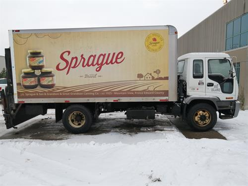 Straight truck wrap for Sprague Foods