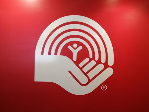Office vinyl wall logo