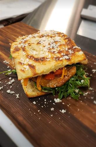 The Rocco, Italian sausage panino
