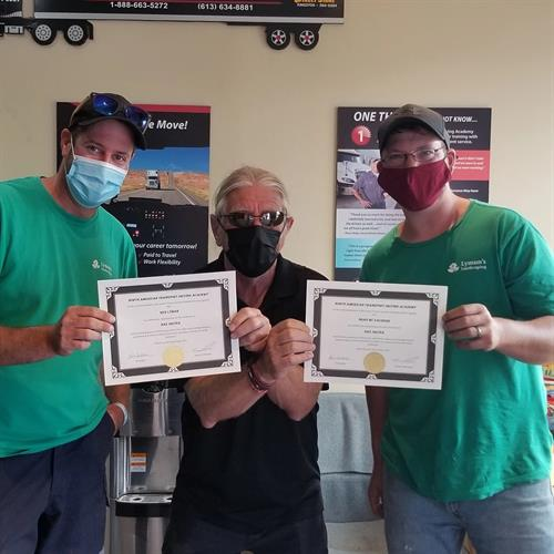 Congratulations to Ben Lyman and Brad Mc Eachern from Lyman's Landscaping for passing their ARZ course
