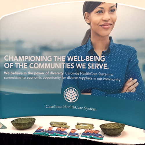 Atrium Health (Formerly Carolina Healthcare System) Supplier Diversity tabletop display - Design and production