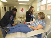Chamber Member Giving Blood