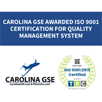CAROLINA GSE AWARDED ISO 9001:2015 CERTIFICATION FOR QUALITY MANAGEMENT SYSTEM