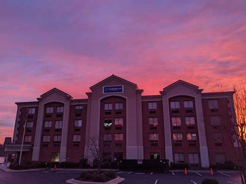 Sunset at the Clarion Pointe